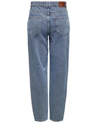 ONLY ONLTroy Life HW Carot Ankle Straight Fit Jeans - Blau
