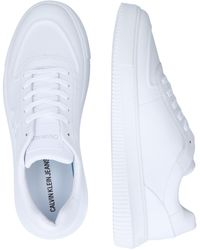 Calvin Klein Sneaker 'CHUNKY SOLE LACEUP OXFORD LTH' - Weiß