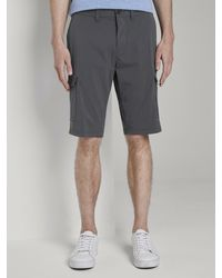 Tom Tailor Funktionale Josh Regular Slim Cargo-Shorts - Grau