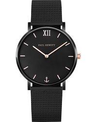PAUL HEWITT Uhr 'Black Sunray PH-SA-B-BSR-4S' - Schwarz