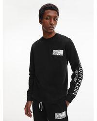 Calvin Klein - Logo-Sweatshirt aus Bio-Baumwolle - Lyst
