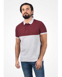 Solid Poloshirt 'Corbin' - Rot