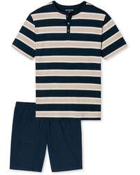 Schiesser Pyjama - Blau