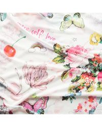 Codello Schal mit sommerlichem Print - Weiß