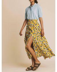 Thinking Mu Rock ' Abstract Flowers Skirt ' - Mehrfarbig