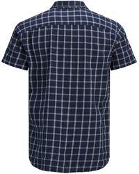 Jack & Jones Western Kurzarmhemd - Blau
