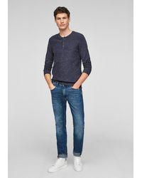 S.oliver Pullover aus Strick - Blau