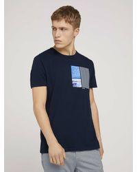 Tom Tailor Denim T-Shirt mit Print - Blau