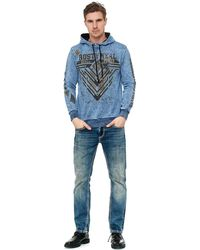Rusty Neal - Sweatshirt mit Oil Washed Front Print - Lyst