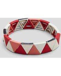 S.oliver Armband mit dreieckigen Schmuckperlen - Rot