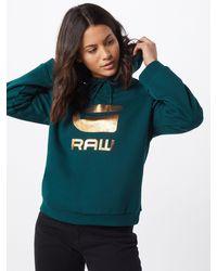 G-Star RAW Sweatshirt 'Graphic' - Grün