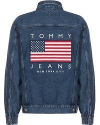 Tommy Hilfiger Jeansjacke ' US Flag ' - Blau