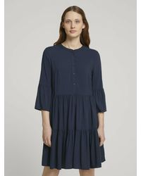 Tom Tailor Denim Kleider & Jumpsuits Babydoll Minikleid - Blau