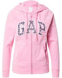 Gap Sweatjacke 'novelty' - Pink