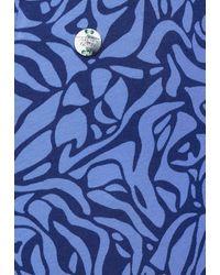 Street One Cosy Mini-Rock mit Print - Blau