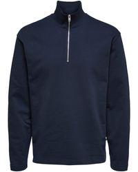 SELECTED Sweatshirt 'Carson' - Blau