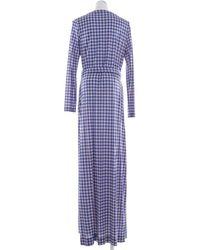Diane von Furstenberg Seidenkleid - Blau