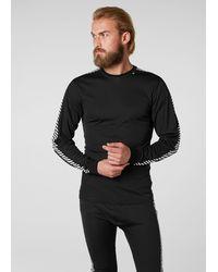 Helly Hansen Shirt 'Dry Stripe Crew' - Schwarz