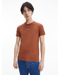 Calvin Klein Schmales T-Shirt aus Bio-Baumwolle CK The Basics - Mehrfarbig