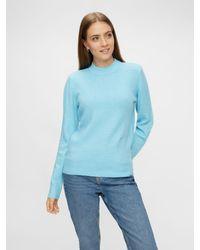 Pieces Pullover - Blau