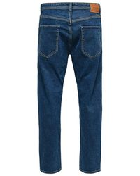 SELECTED Cropped Jeans - Blau