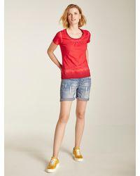 heine Damen - Jeans 'Boyfriend-Shorts' - Blau
