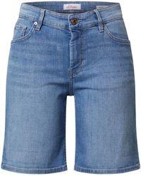 S.oliver Shorts 'Karolin' - Blau