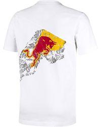 PUMA T-Shirt 'Red Bull Racing Dynamic Bull' - Weiß