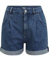 OVS Shorts 'NEW MOM' - Blau