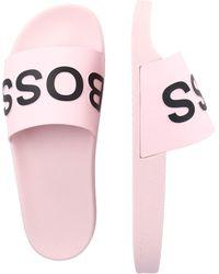 BOSS by HUGO BOSS Pantolette 'Bay Slid' - Pink
