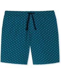 Schiesser Pyjamashorts - Blau