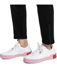 Puma Cali Exotic Wns Niedrige Sneaker Weiß Damen Schuhe