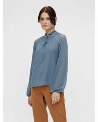 Object Shirt mit langen Ärmeln - Blau