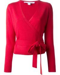 Diane Von Furstenberg Wrap Style Cardigan - Lyst