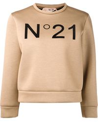 No 21 Front Logo Sweater - Lyst