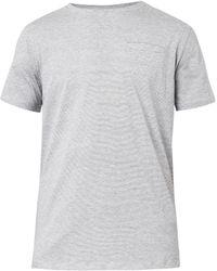 A.P.C. Striped Cotton Tshirt - Lyst