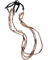 Royal Nomad Jewelry - Two Strand Opal, Moonstone, And Rose Quartz Bead Necklace - Lyst