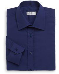Saint Laurent Woven Cotton Dress Shirt - Lyst