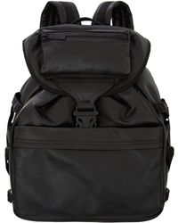 Alexander McQueen Black Spine Detail Leather Backpack - Lyst