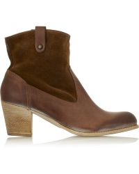 NDC - Teresa Leather And Suede Ankle Boots - Lyst