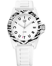 Juicy Couture Womens Juicy Sport White Textured Silicone Strap Watch 40mm - Lyst