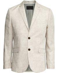 H&M Linen Jacket beige - Lyst