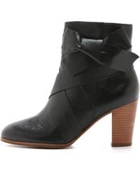 Kate Spade Tracee Bow Booties - Black
