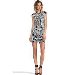RVN - Tron 3D Jacquard Dress - Lyst