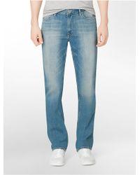 Calvin Klein Jeans Slim Straight Leg Silver Bullet Light Wash Jeans blue - Lyst