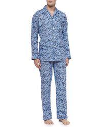 Derek Rose Paisley-Print Pajama Set - Lyst