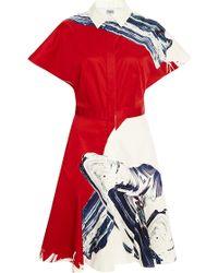 Prabal Gurung Printed Cotton Shirtdress - Lyst