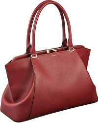 Cartier C De Leather Medium Tote - For Women red - Lyst
