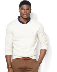 Polo Ralph Lauren Crew Neck Cotton Pullover - Lyst