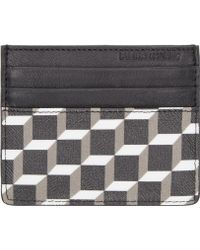 Pierre Hardy - Cube-Print Leather Card Holder - Lyst